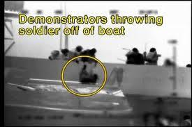 Throwing Israeli Soldiers off the Turkish Mavi Marmara