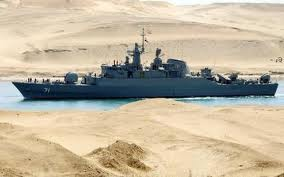 Iranian Navy passing thru Suez