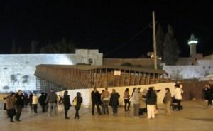 Temporary bridge to Temple Mount